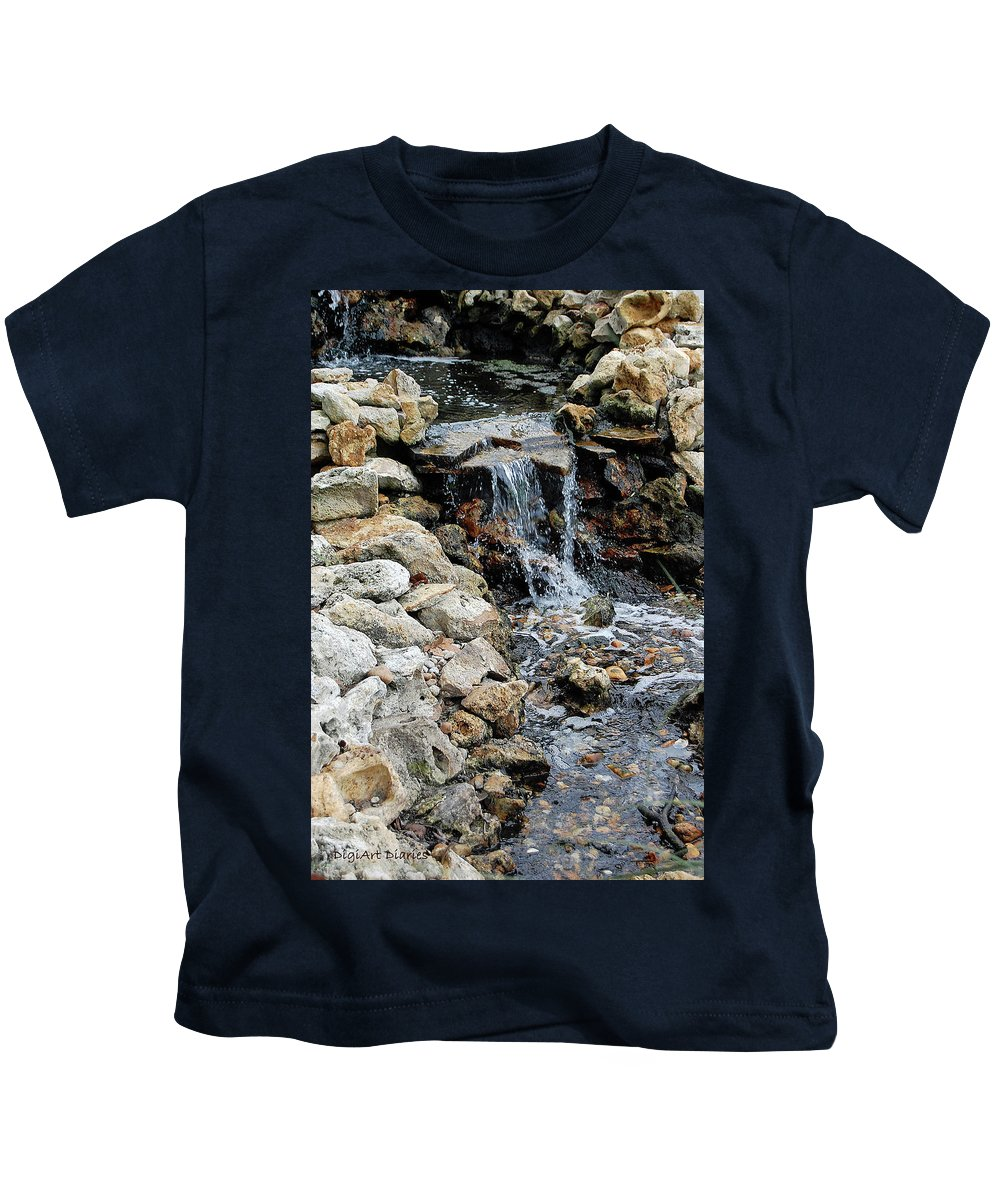 River Kids T-Shirt featuring the digital art River Rock Of The Unknown by DigiArt Diaries by Vicky B Fuller