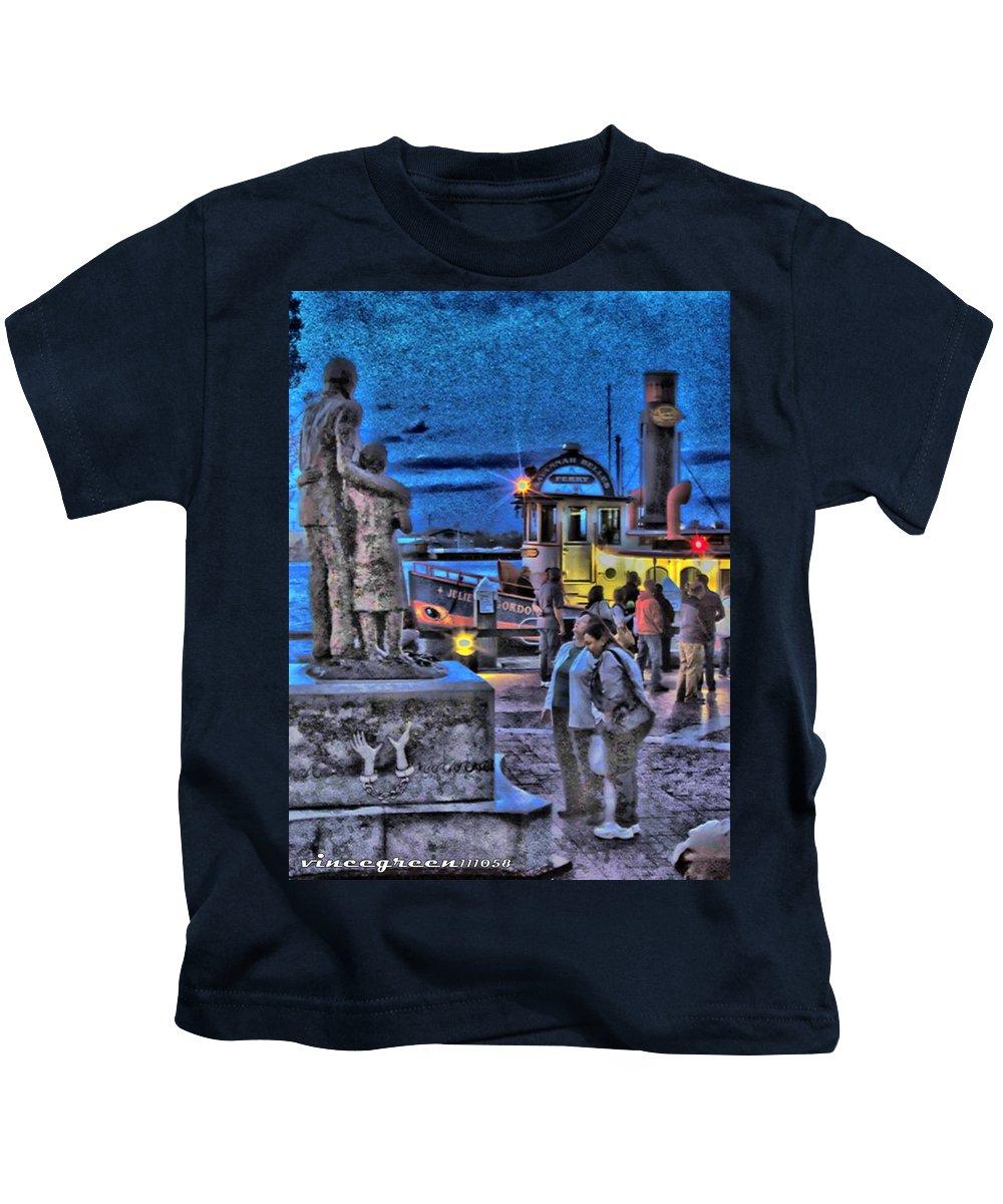 Savannah Kids T-Shirt featuring the digital art River Street Blues by Vincent Green