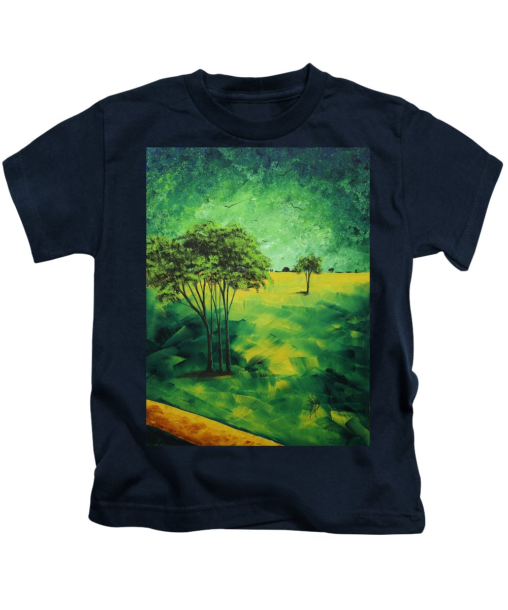 Contemporary Kids T-Shirt featuring the painting Road To Nowhere 1 By Madart by Megan Duncanson