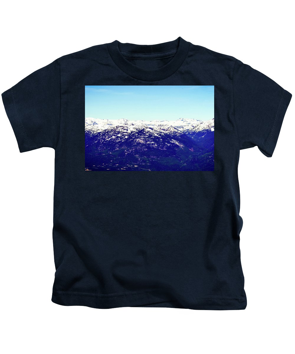 Vancouver Kids T-Shirt featuring the photograph Rockies by Aparna Tandon
