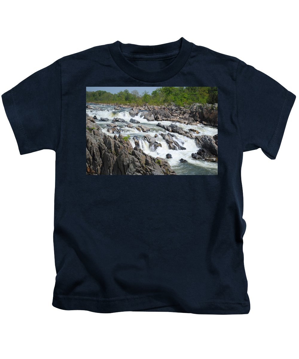 River Kids T-Shirt featuring the photograph Rocks Of The Potomac by Jost Houk