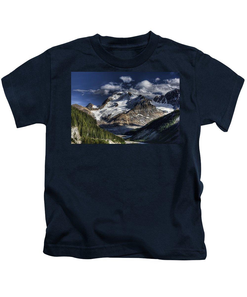 Canada Kids T-Shirt featuring the photograph Rocky Mountain High by Wayne Sherriff