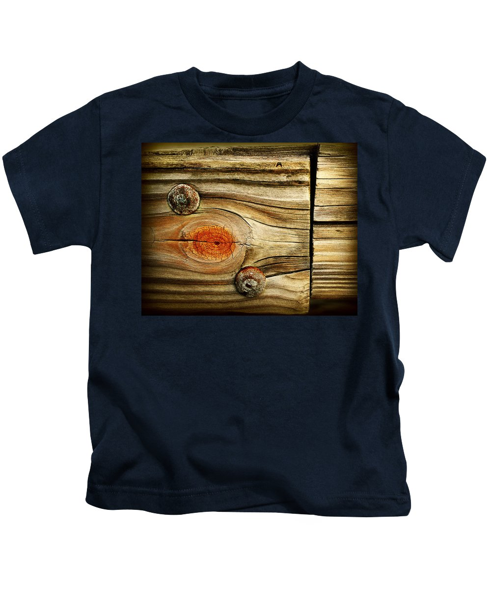 Wood Kids T-Shirt featuring the photograph Rustic Wood by Perry Webster