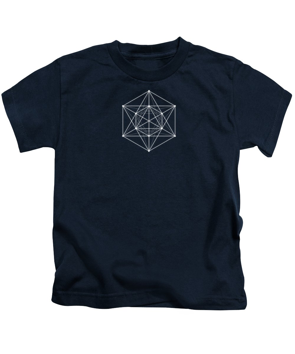 Minimal Kids T-Shirt featuring the digital art Sacred Geometry Minimal Hipster Symbol Art by Philipp Rietz