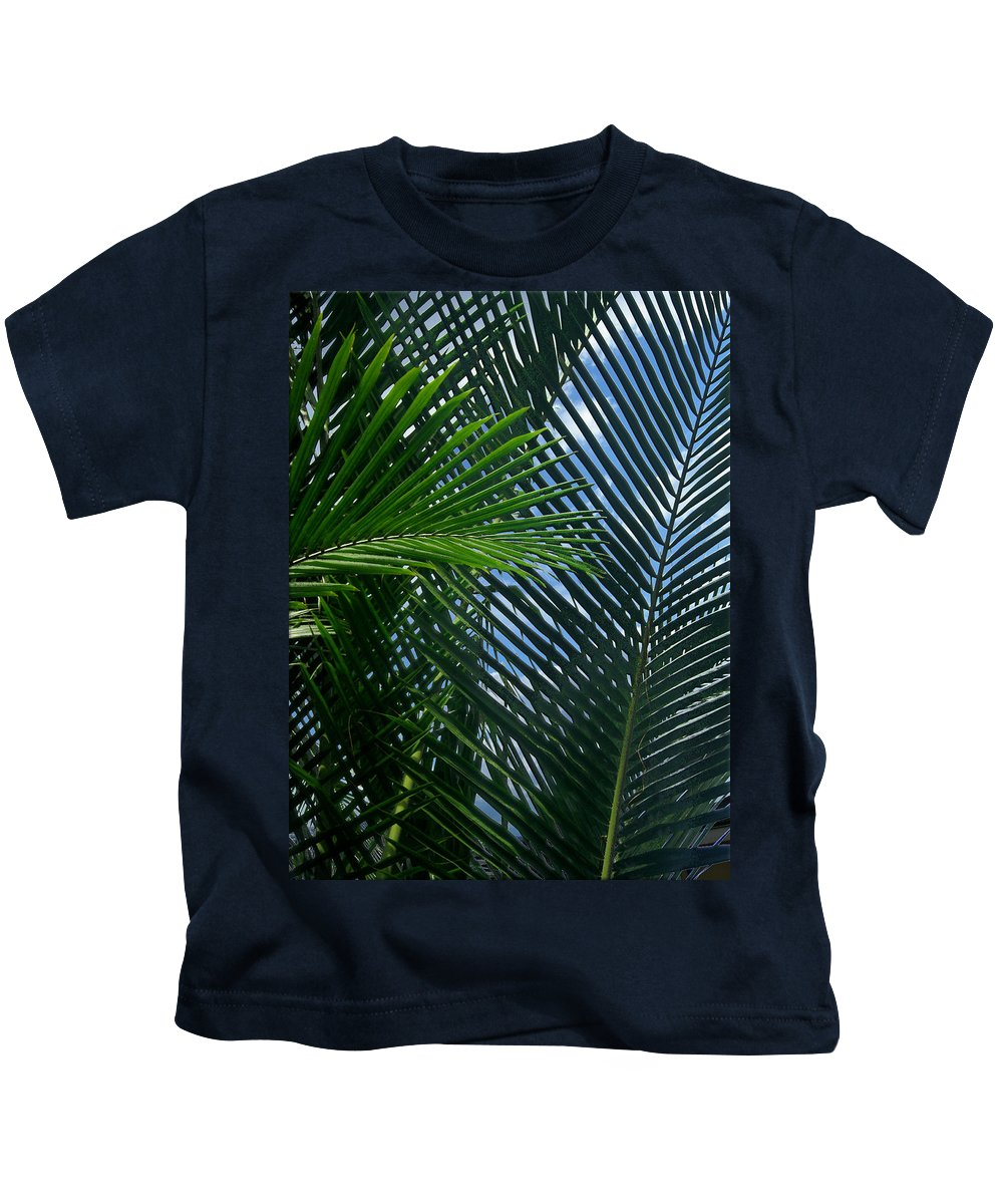 Indonesia Kids T-Shirt featuring the photograph Sago Palm Fronds by Mark Sellers