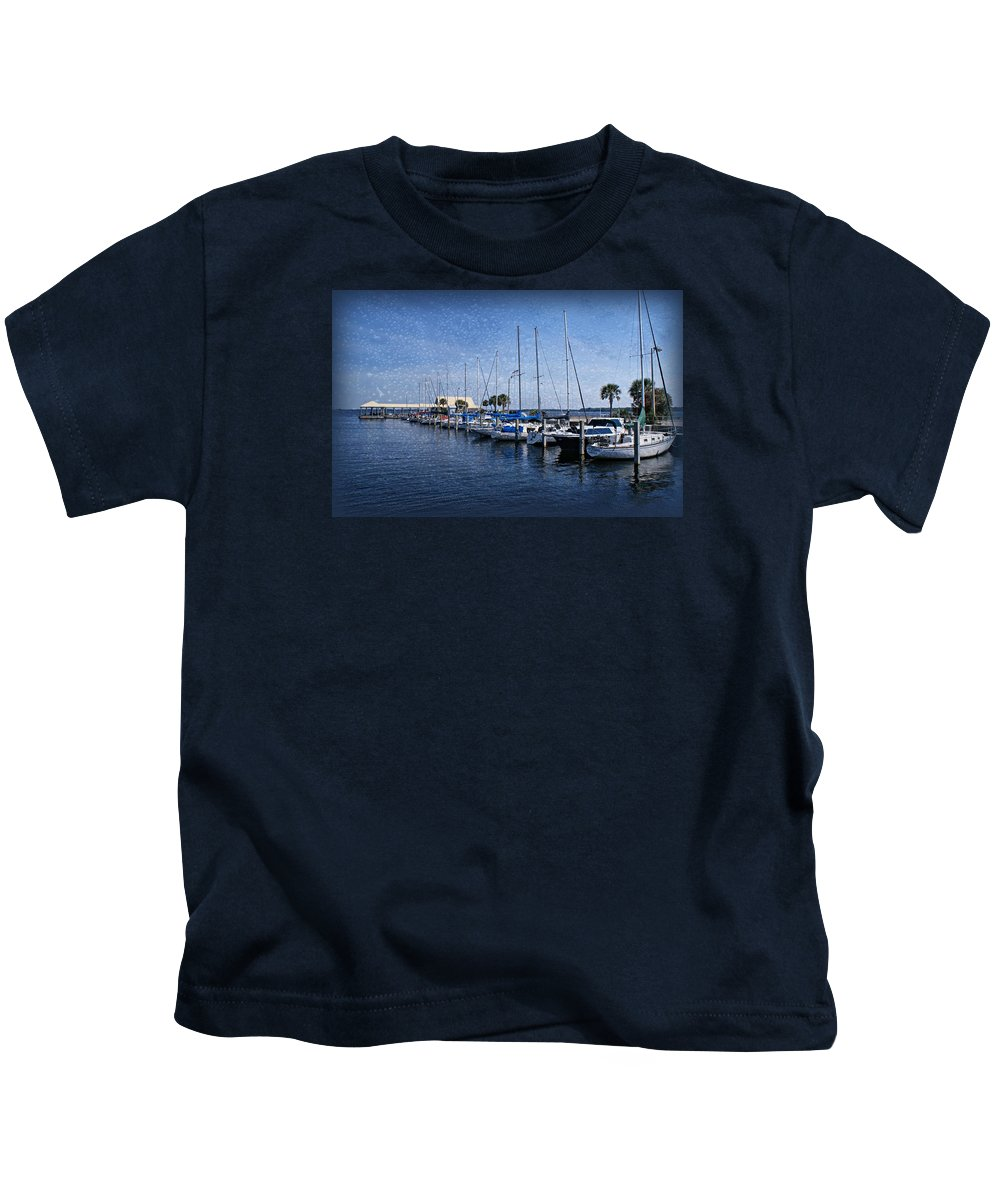 Sailboats Kids T-Shirt featuring the photograph Sailboats by Sandy Keeton