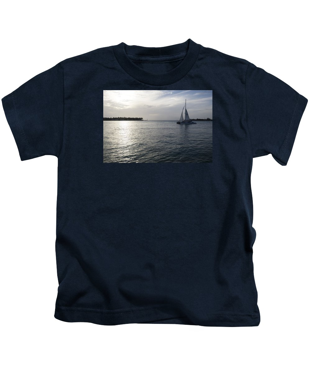 Sail Kids T-Shirt featuring the photograph Sailing by Eline Van Nes