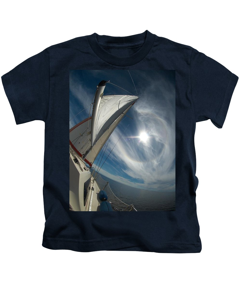 Gulf Of Bothnia Kids T-Shirt featuring the photograph Sailing by Jouko Lehto