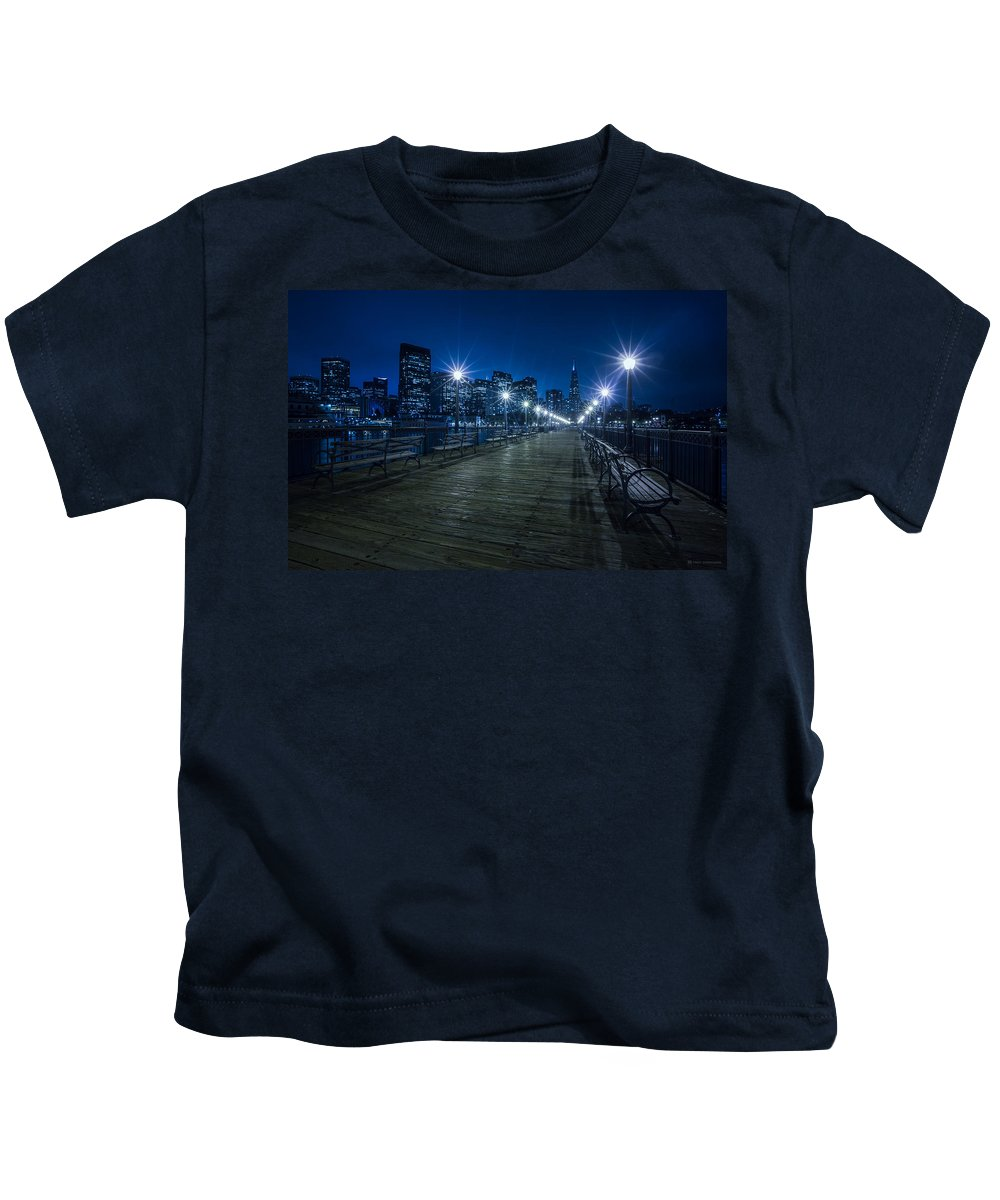 San Francisco Kids T-Shirt featuring the digital art San Francisco by Dorothy Binder