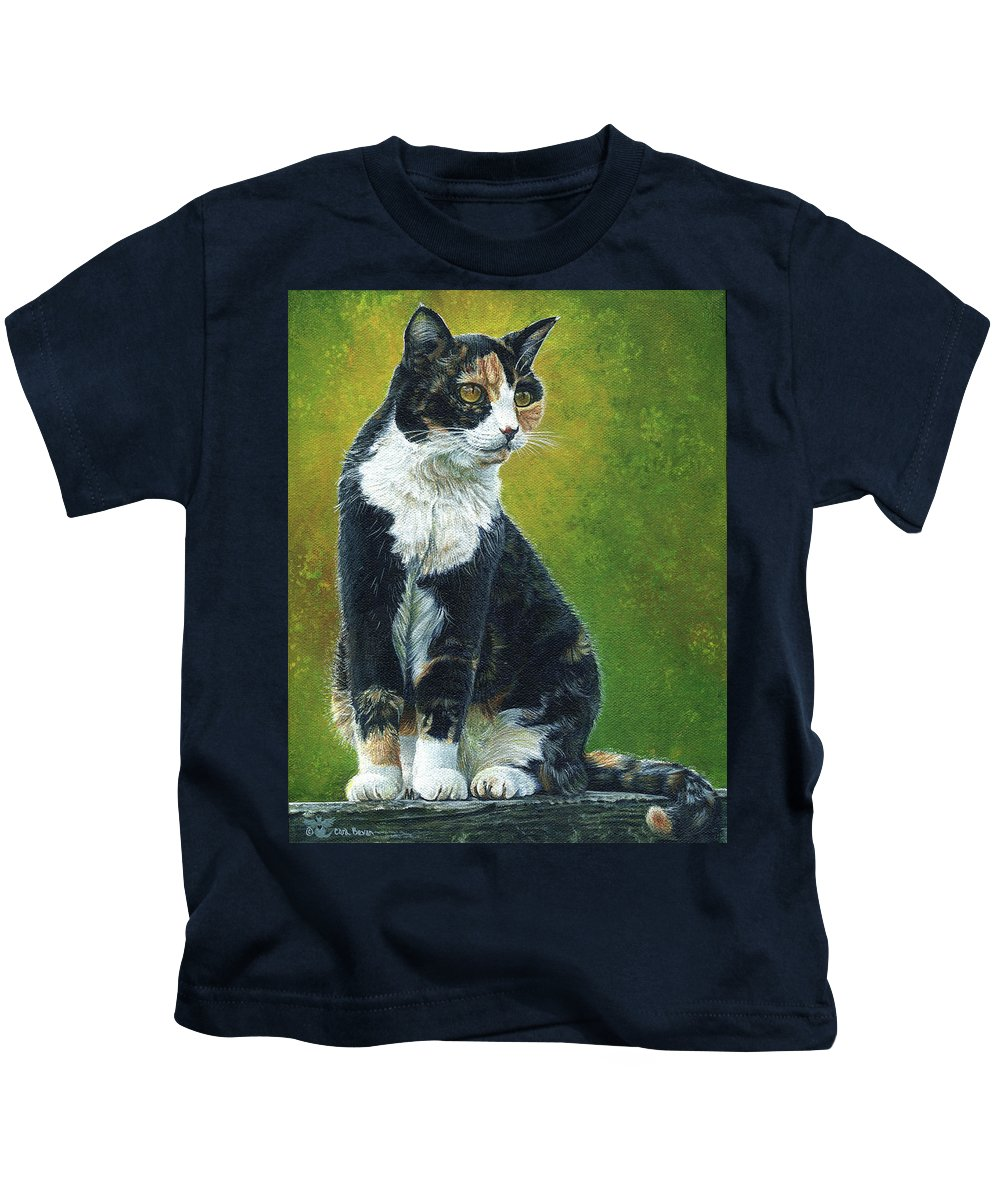 Sassy Kids T-Shirt featuring the painting Sassy by Cara Bevan
