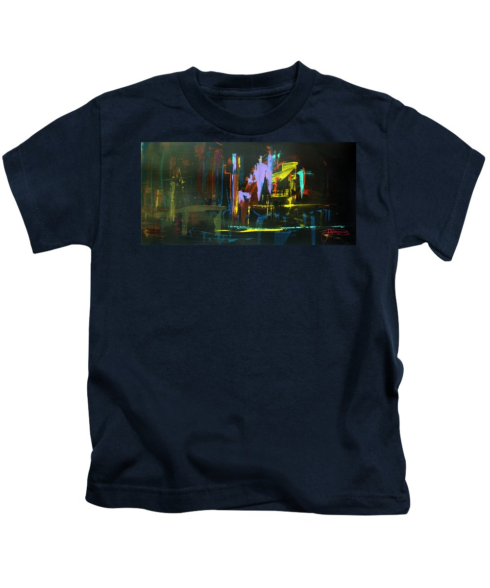 Saturday Night Kids T-Shirt featuring the painting Saturday Night by Jack Diamond