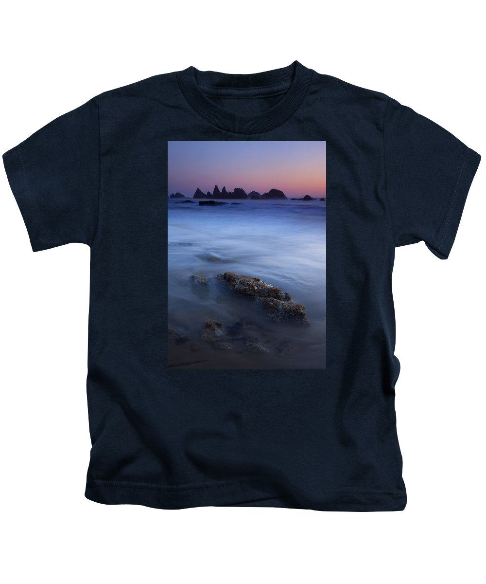 Seal Rock Kids T-Shirt featuring the photograph Seal Rock Glow by Mike Dawson