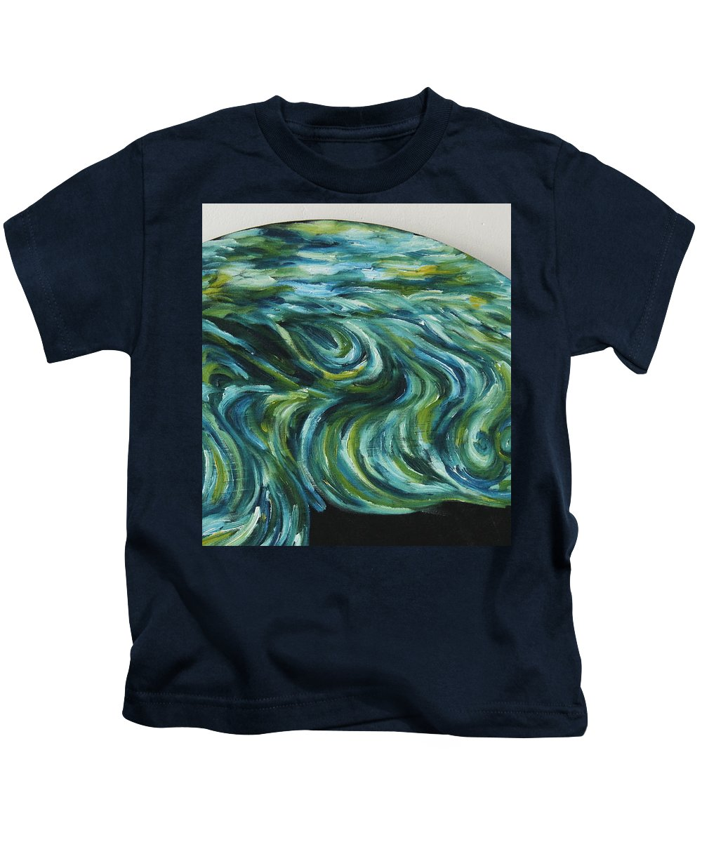 Art Kids T-Shirt featuring the painting Seaside Dreams 2 by Nour Refaat