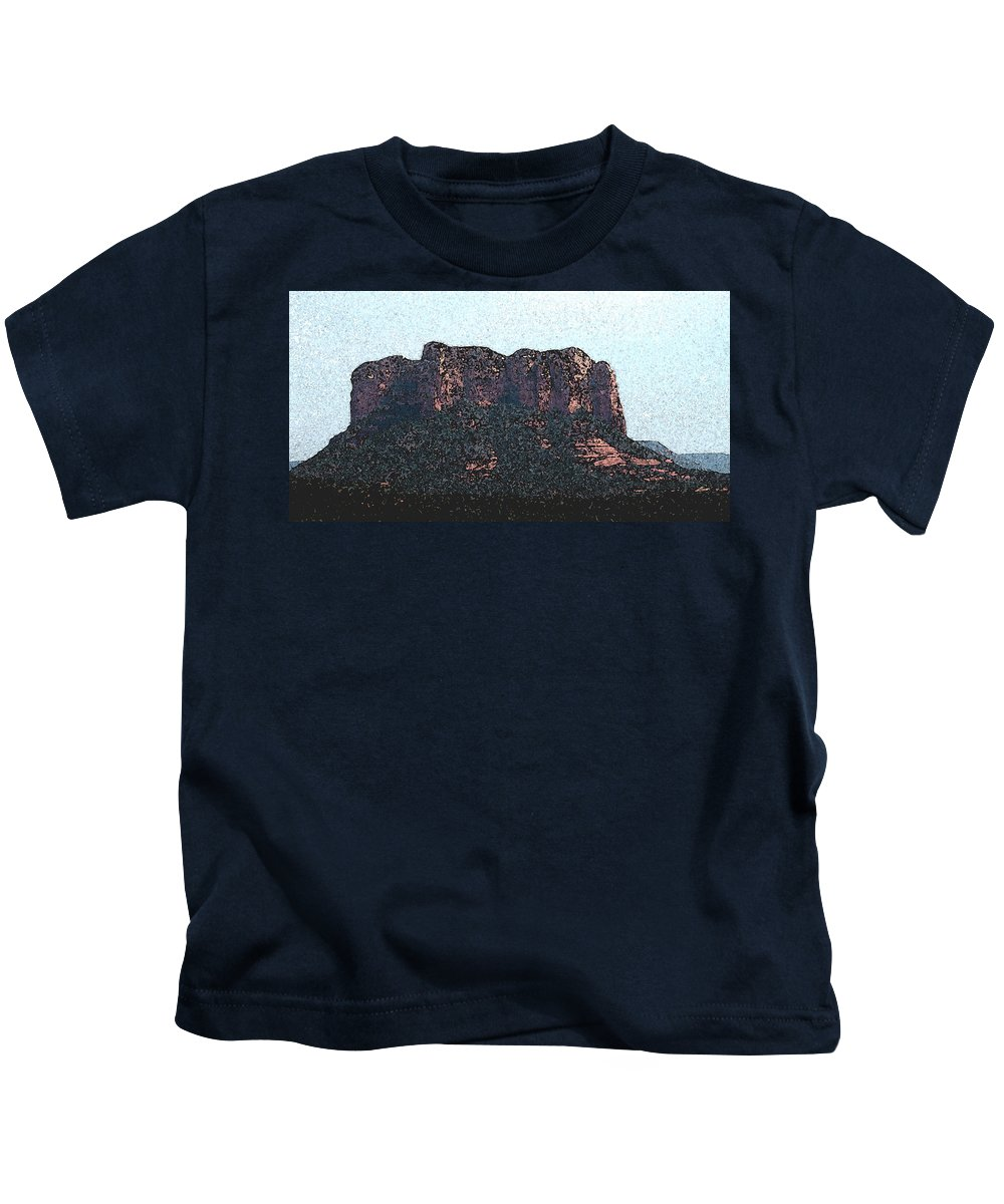 Altered Photography Kids T-Shirt featuring the photograph Sedona Rock Formation by Wayne Potrafka