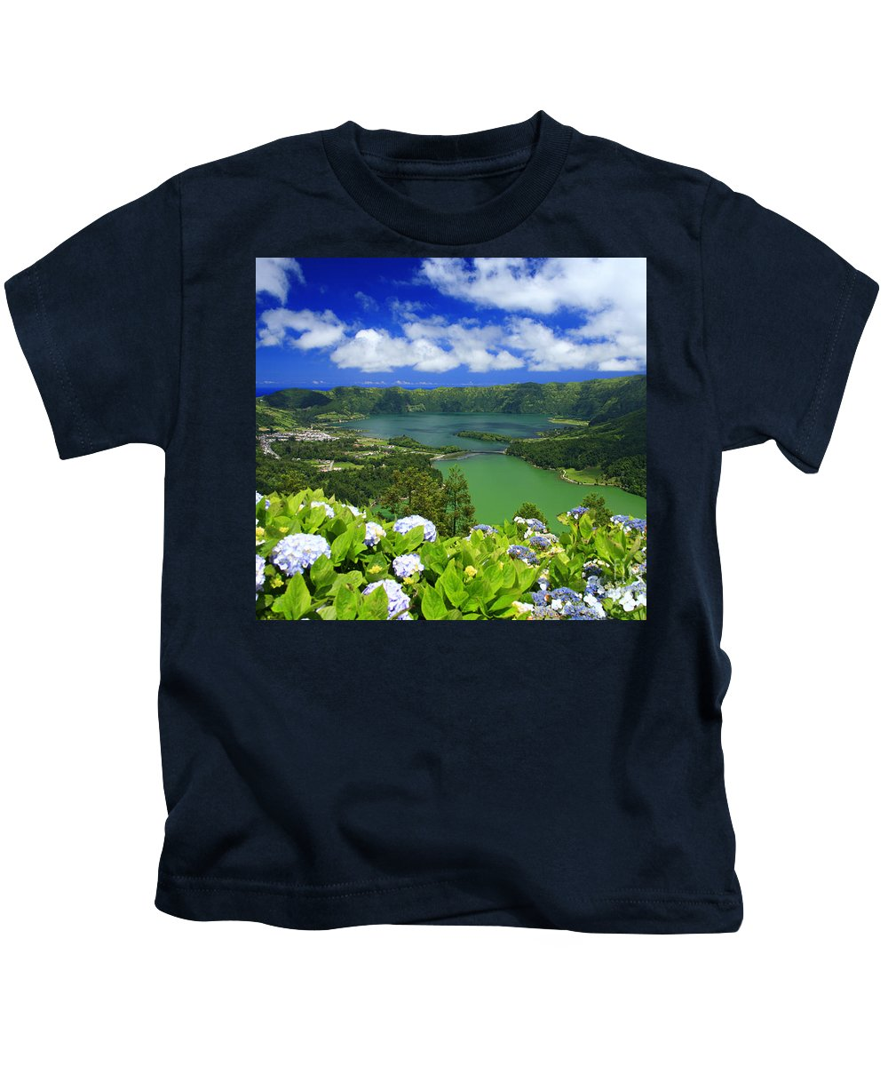 Sete Cidades Kids T-Shirt featuring the photograph Sete Cidades Crater by Gaspar Avila