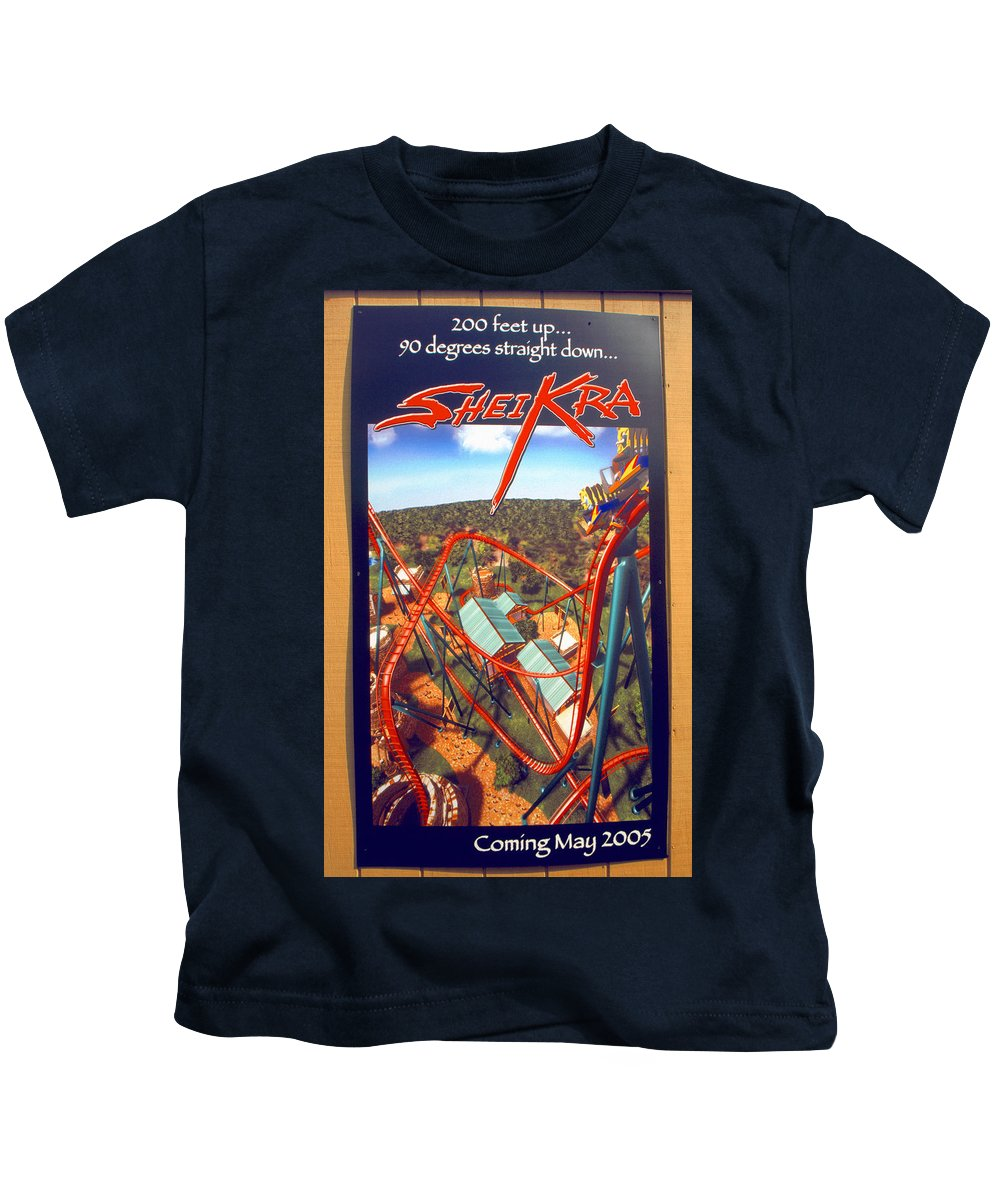 Sheikra Coaster Kids T-Shirt featuring the photograph Sheikra Ride Poster 2 by David Lee Thompson