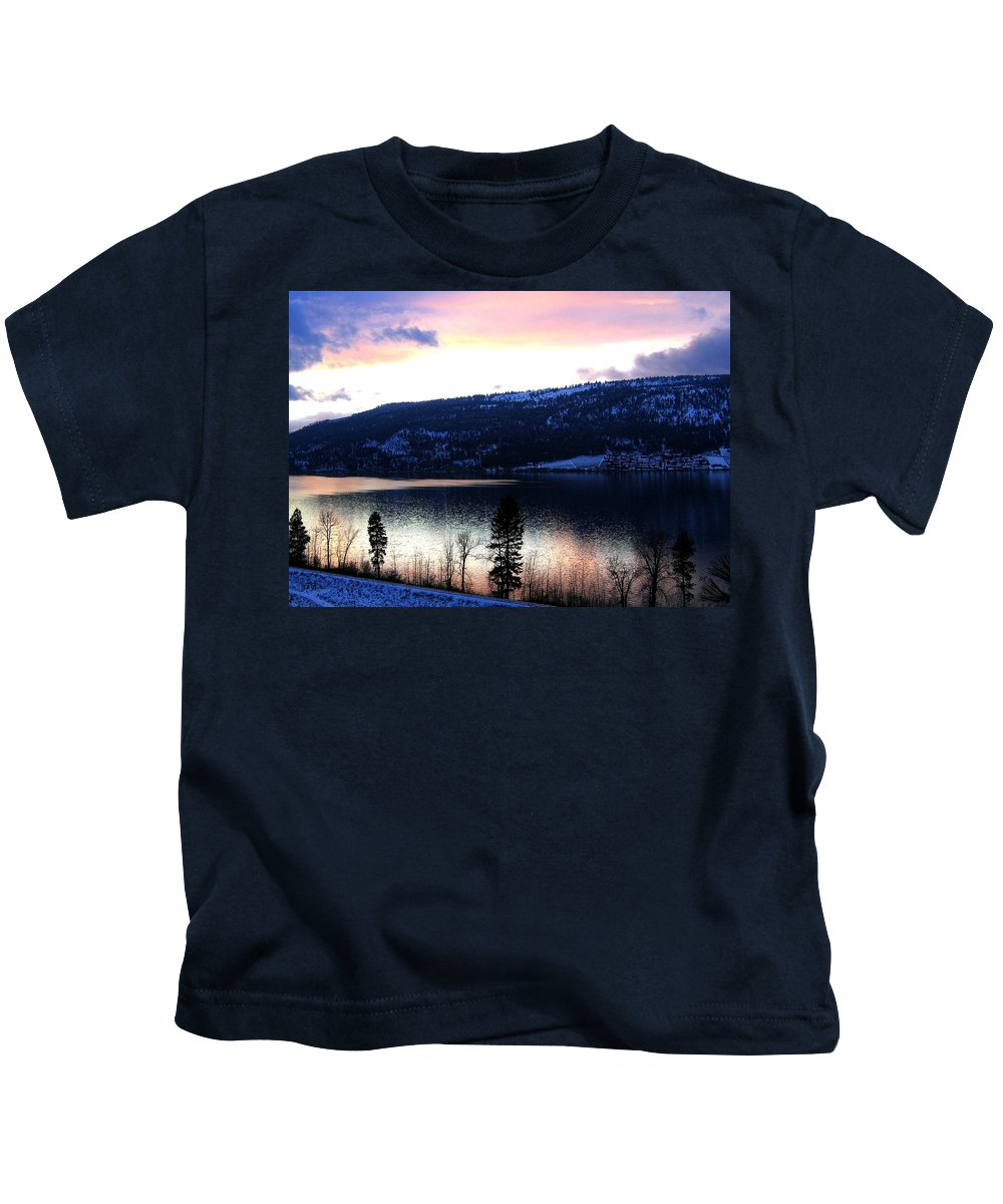 Wood Lake Kids T-Shirt featuring the photograph Shimmering Waters by Will Borden