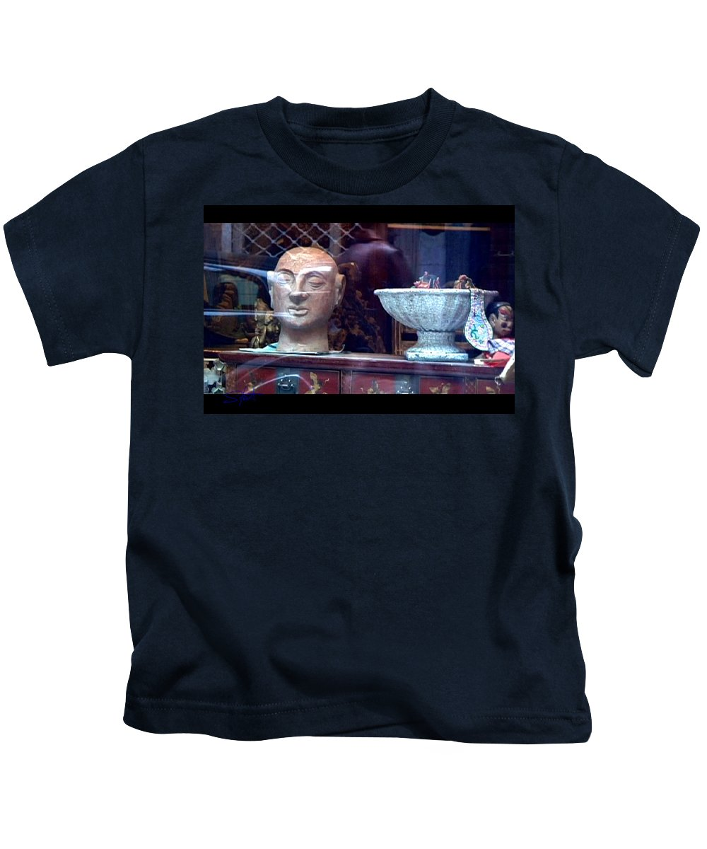 Dream Kids T-Shirt featuring the photograph Shop Window by Charles Stuart