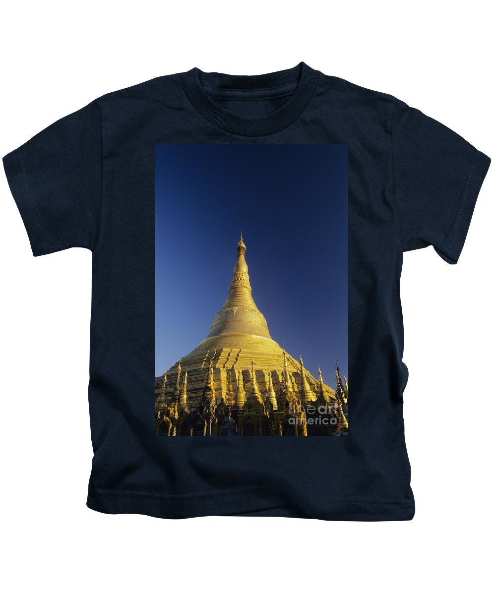 Afternoon Kids T-Shirt featuring the photograph Shwedagon Paya by William Waterfall - Printscapes