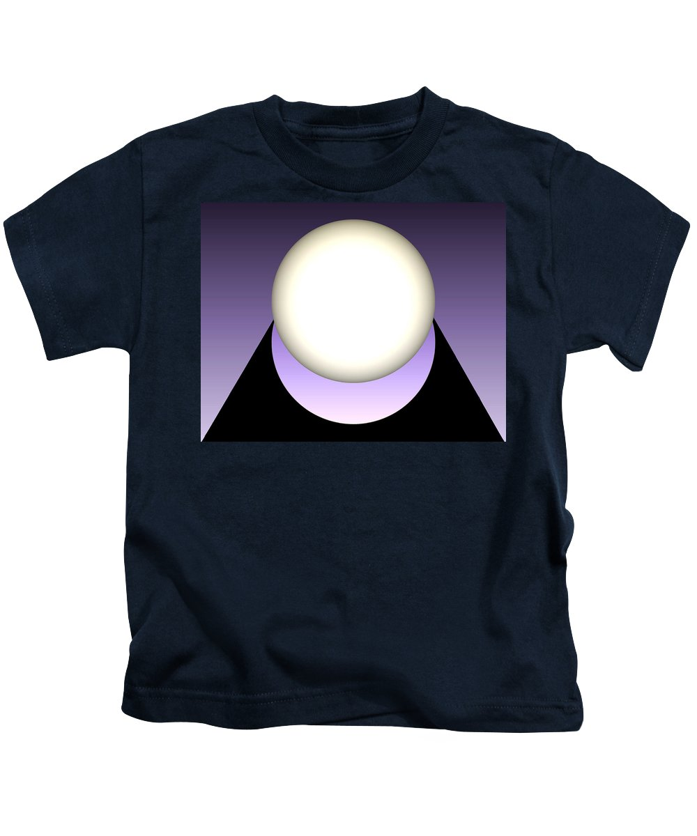 Abstract Kids T-Shirt featuring the mixed media Simplicity 100 by John Krakora