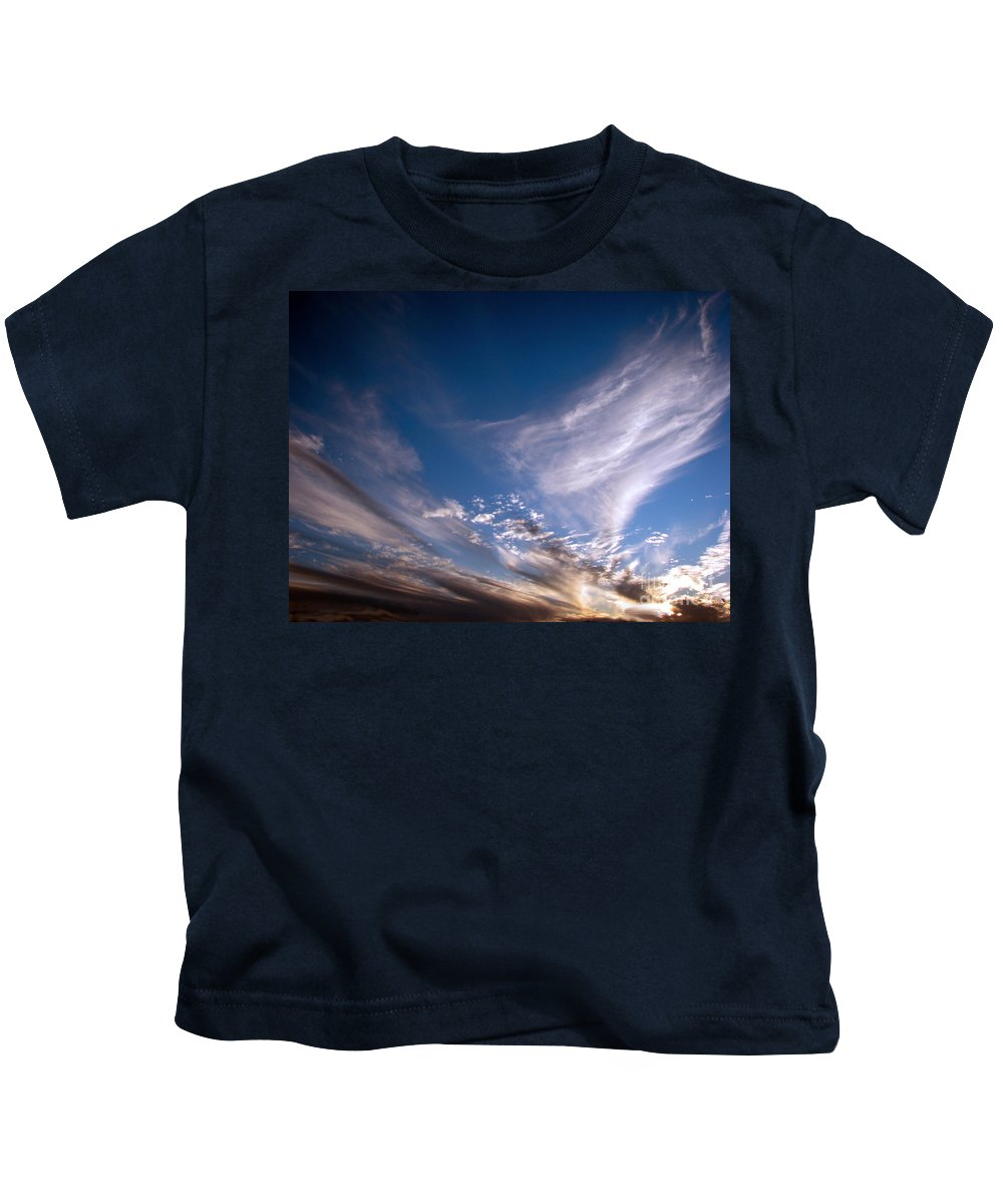 Skies Kids T-Shirt featuring the photograph Sky by Amanda Barcon