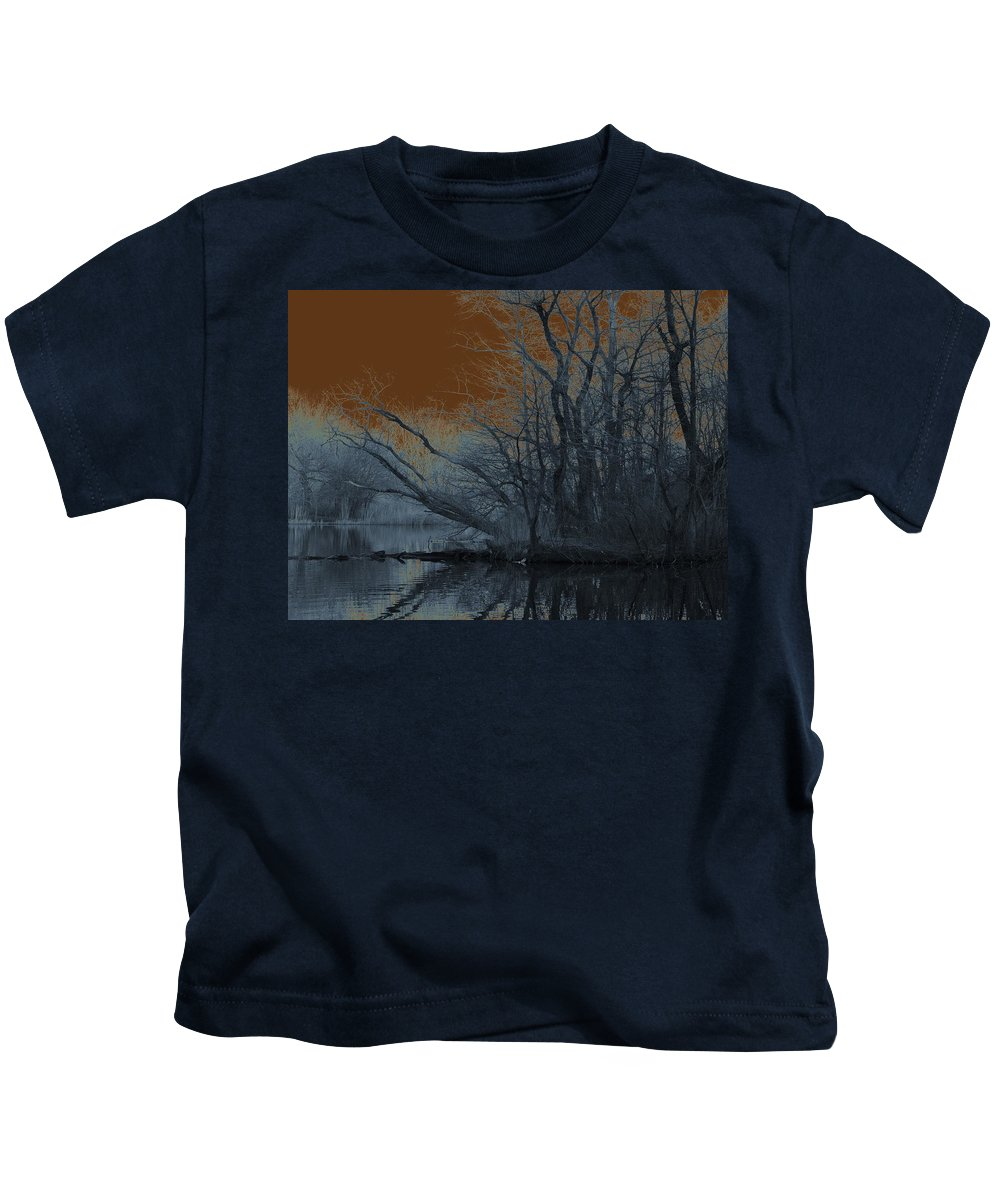 Solarization Kids T-Shirt featuring the photograph Solarization by Kendall Eutemey