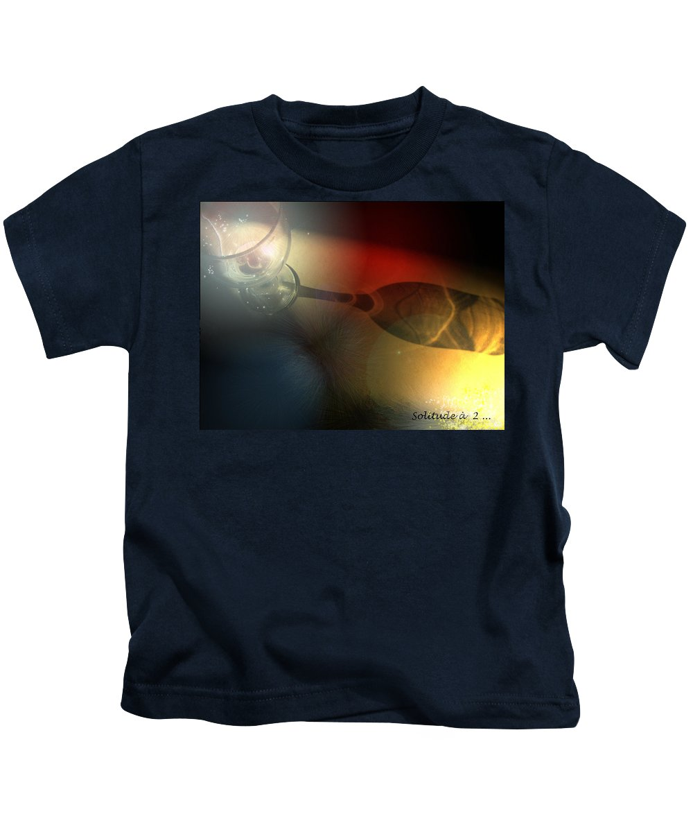 Fantasy Kids T-Shirt featuring the photograph Solitude A Deux by Miki De Goodaboom