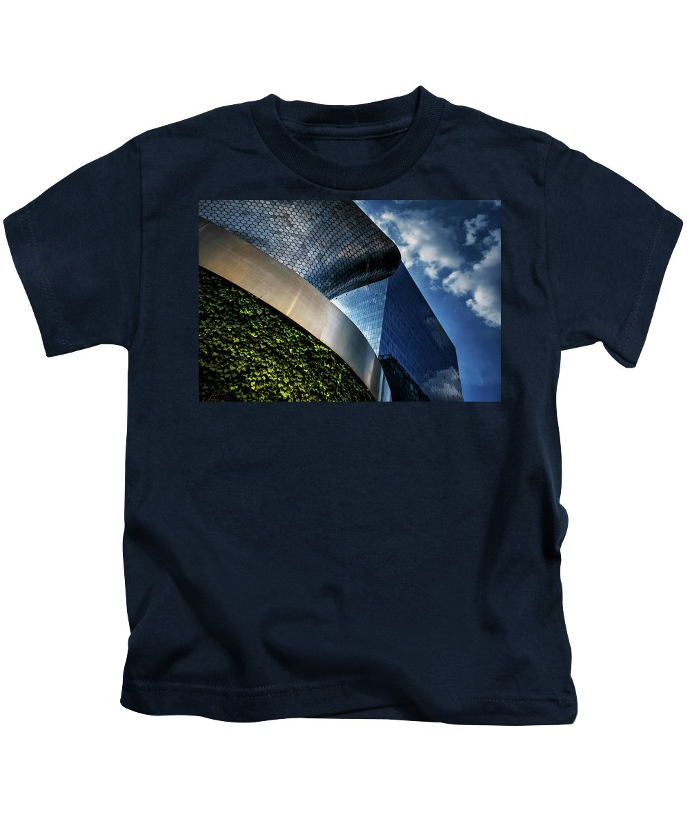 Museo Soumaya Kids T-Shirt featuring the photograph Soumaya Museum - Mexico I by Totto Ponce