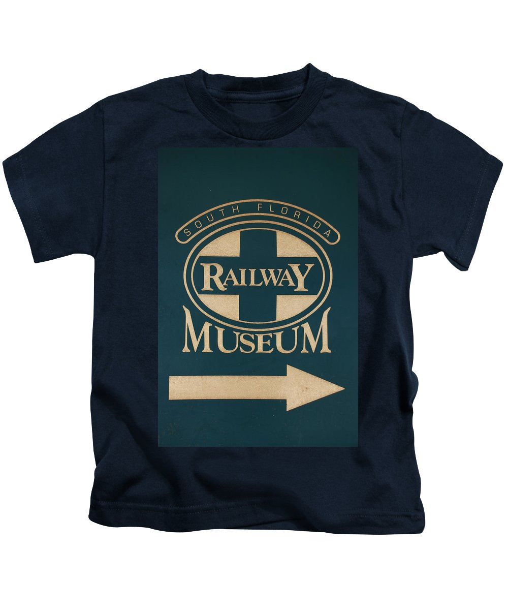 South Florida Railway Museum Kids T-Shirt featuring the photograph South Florida Railway Museum by Rob Hans