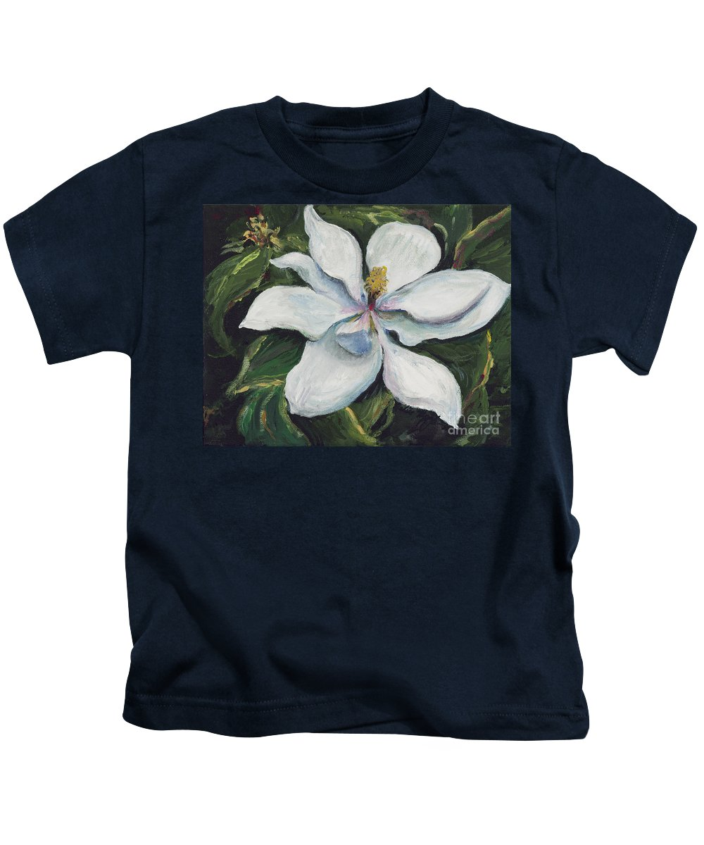 Green Kids T-Shirt featuring the painting Southern Beauty by Nadine Rippelmeyer