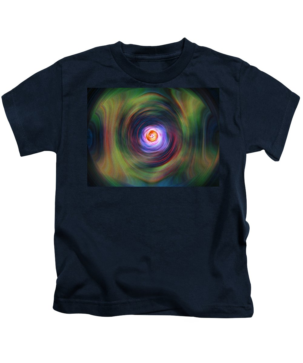 Abstrract Kids T-Shirt featuring the digital art Space Time Sequence by Don Quackenbush
