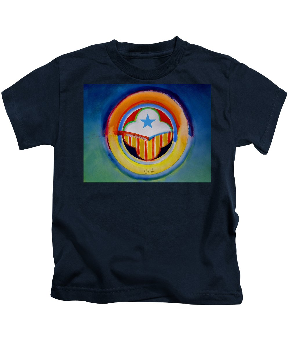 Button Kids T-Shirt featuring the painting Spanish American by Charles Stuart