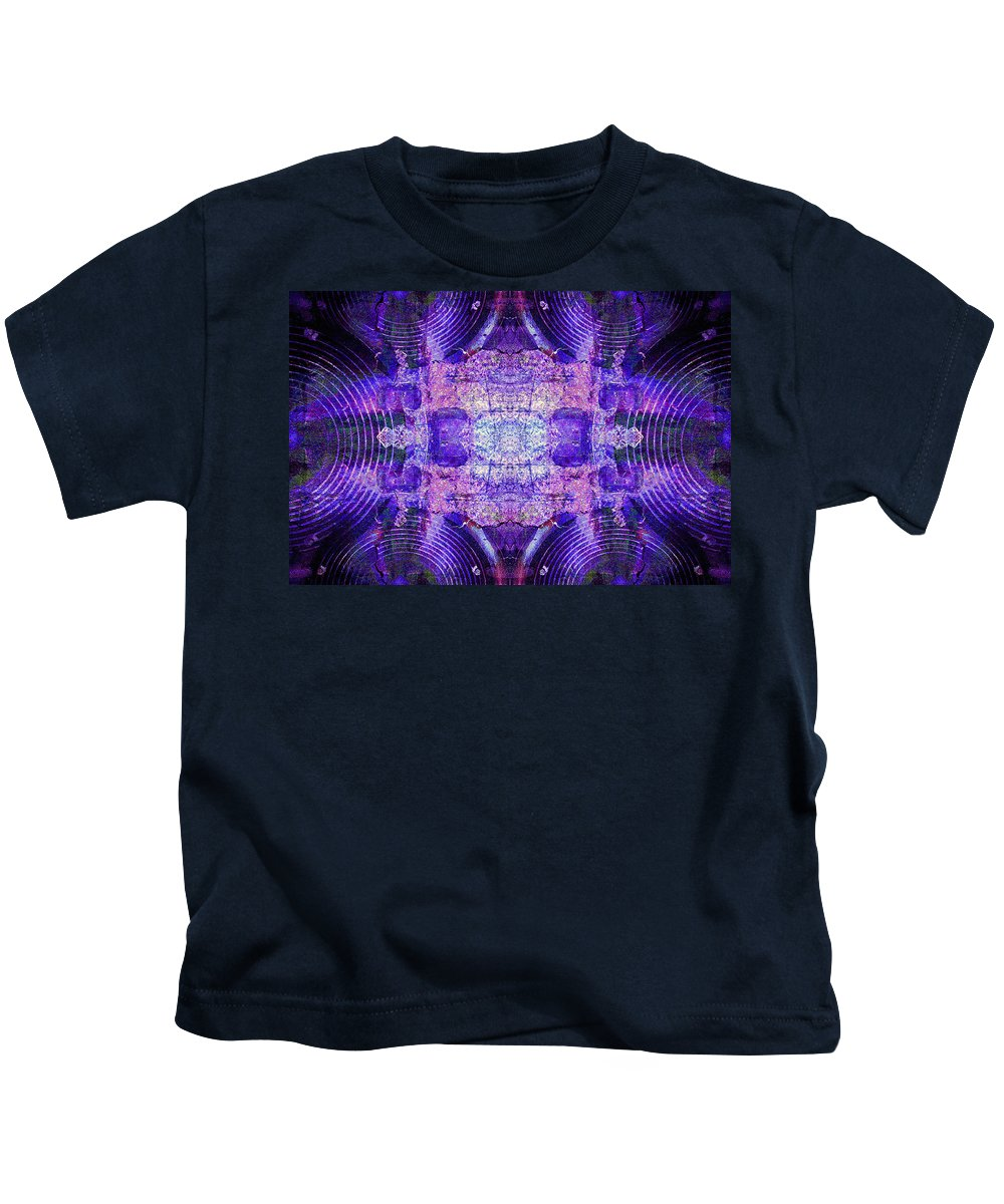 Audio Kids T-Shirt featuring the digital art Speakers 6 by Steve Ball