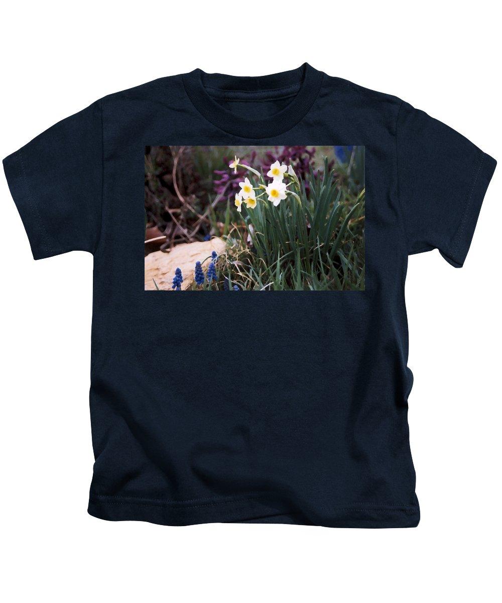 Flowers Kids T-Shirt featuring the photograph Spring Garden by Steve Karol