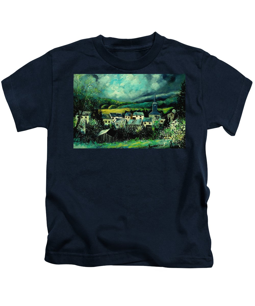 Tree Kids T-Shirt featuring the painting Spring In Daverdisse by Pol Ledent