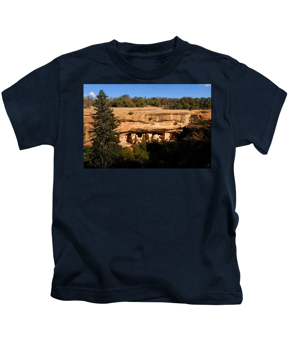 Art Kids T-Shirt featuring the painting Spruce Tree House by David Lee Thompson