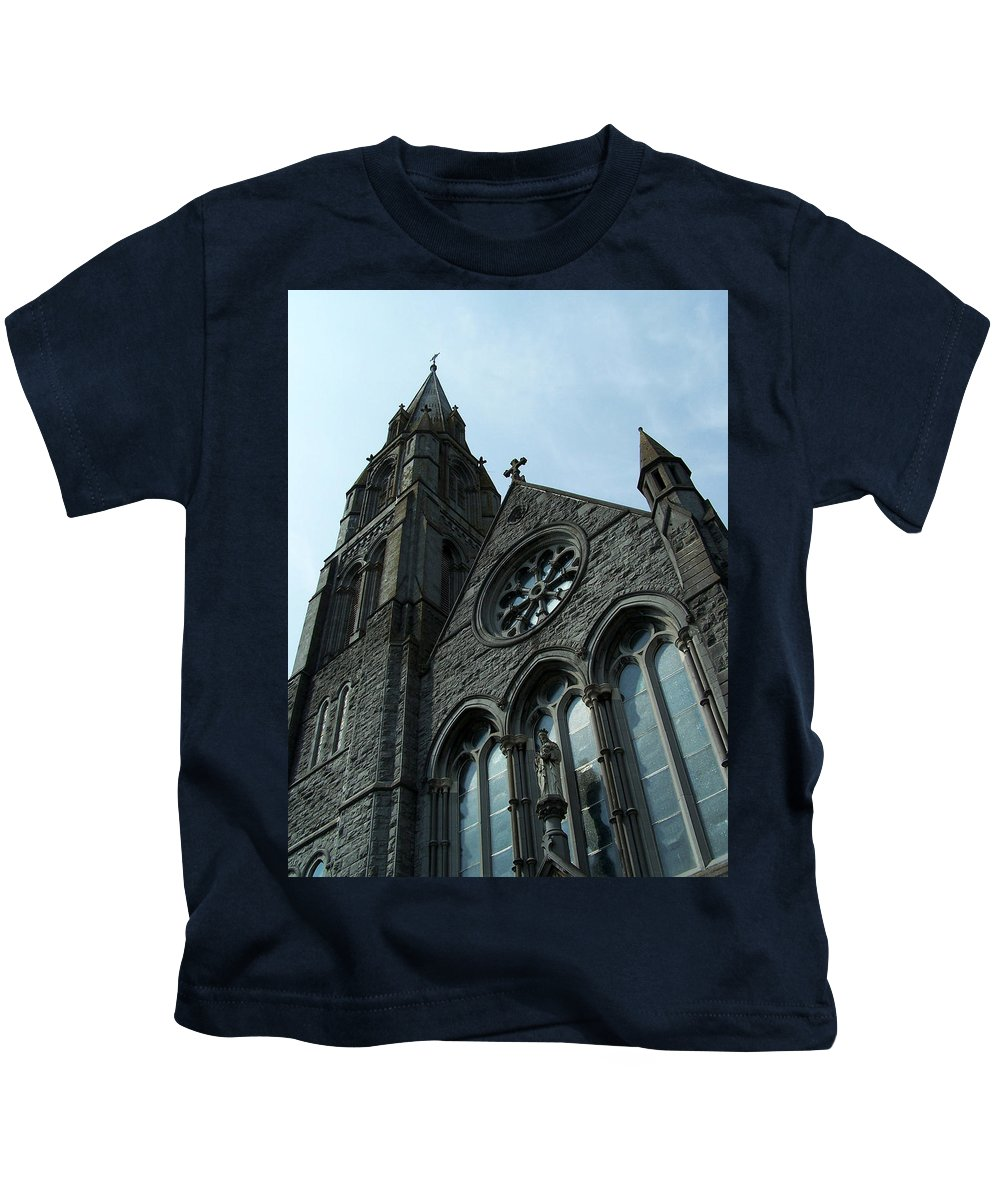 Ireland Kids T-Shirt featuring the photograph St. Mary's Of The Rosary Catholic Church by Teresa Mucha