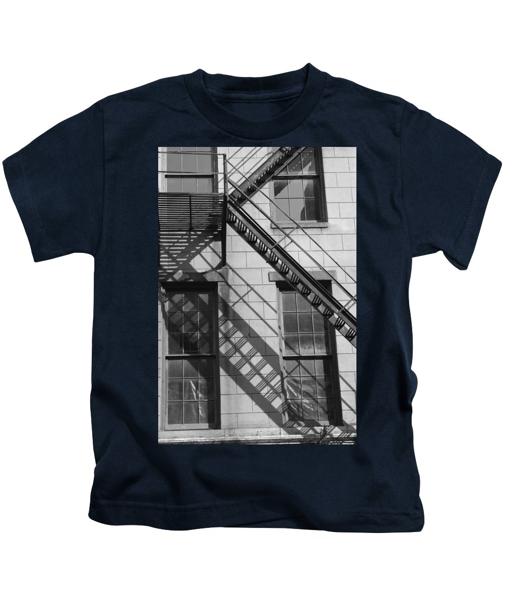 Stairs Kids T-Shirt featuring the photograph Stair Shadows by Lauri Novak