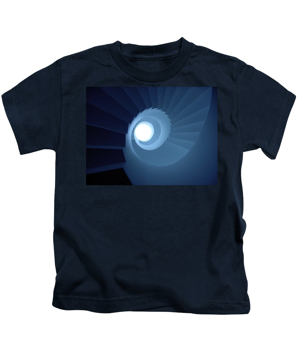 Blue Kids T-Shirt featuring the photograph Stairway To Heaven by Steve Williams