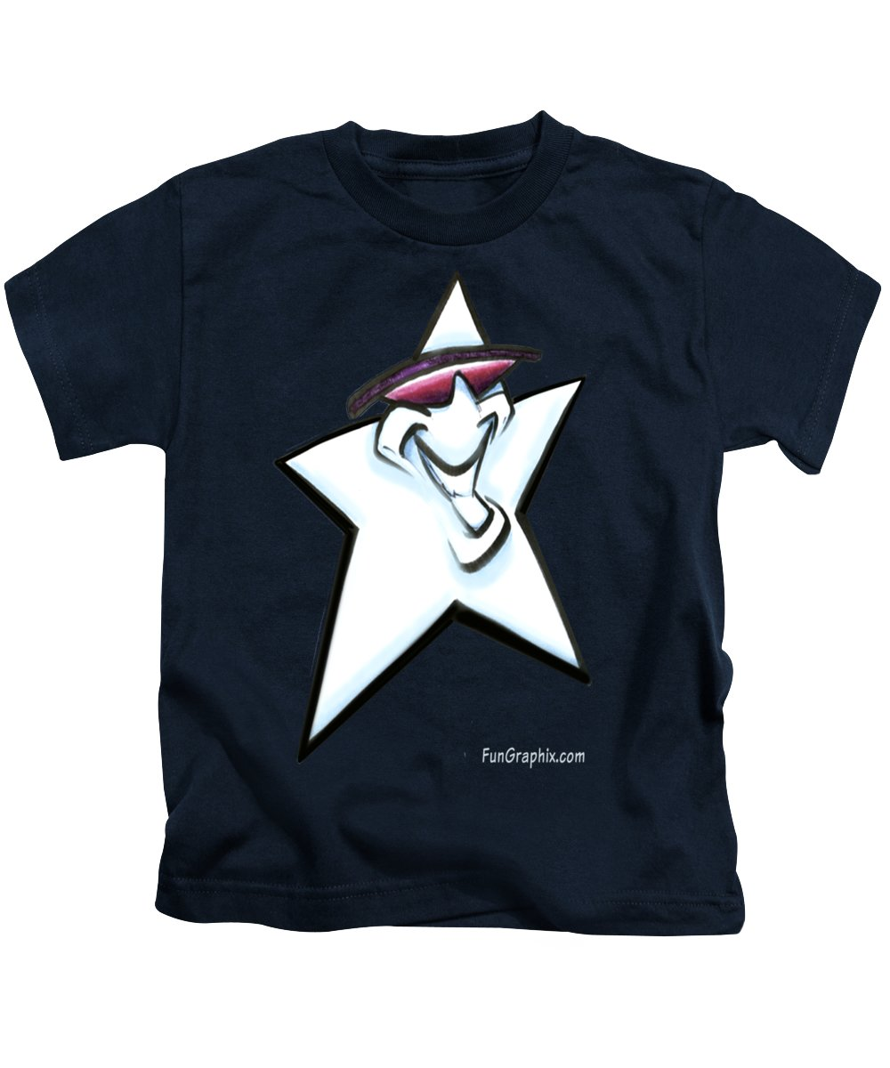 Star Kids T-Shirt featuring the digital art Star by Kevin Middleton