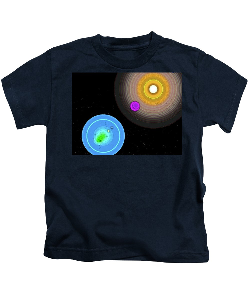 Abstract Kids T-Shirt featuring the digital art Stars by Lenore Senior