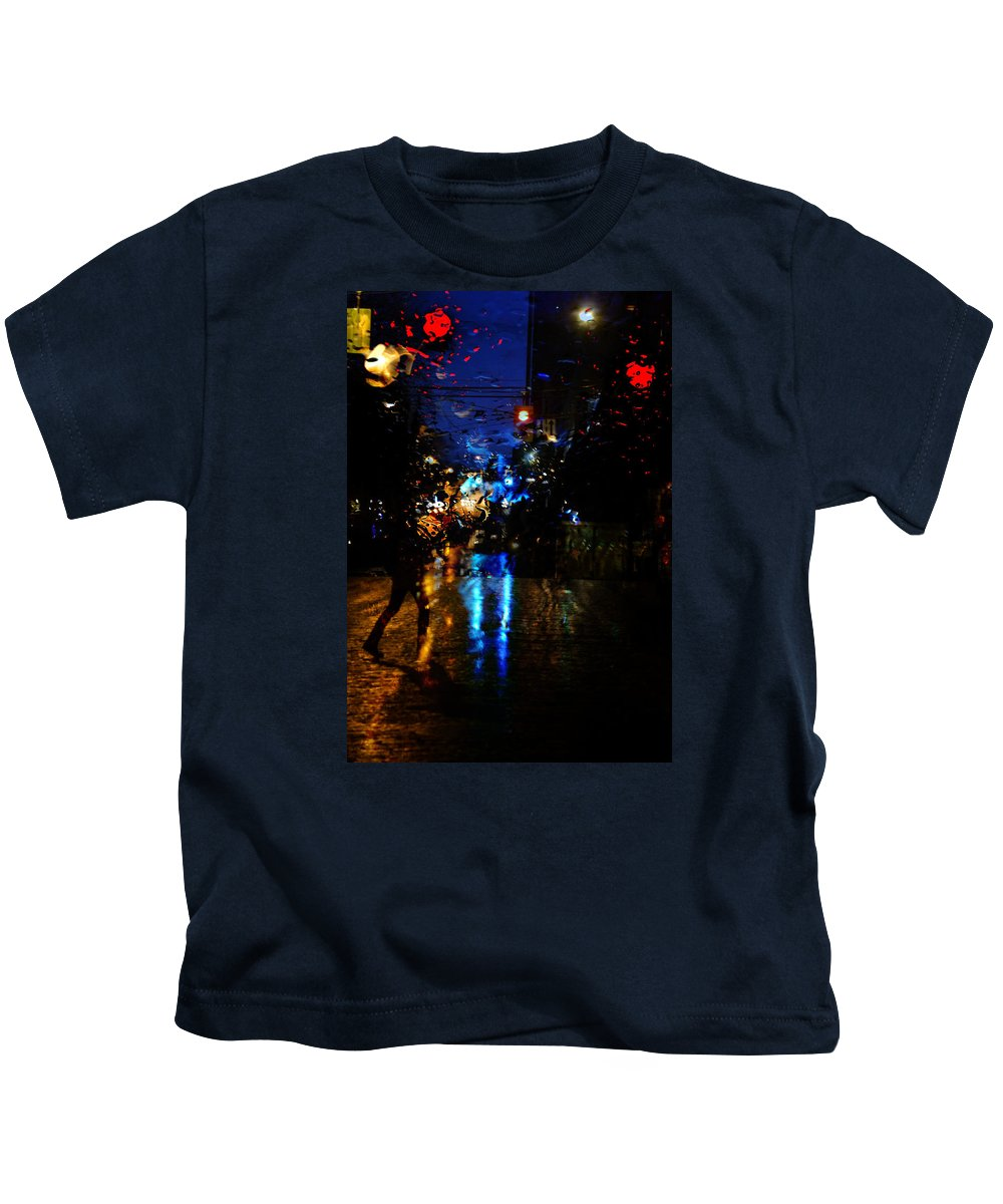 Street Photography Kids T-Shirt featuring the photograph Steps Towards Night by The Artist Project