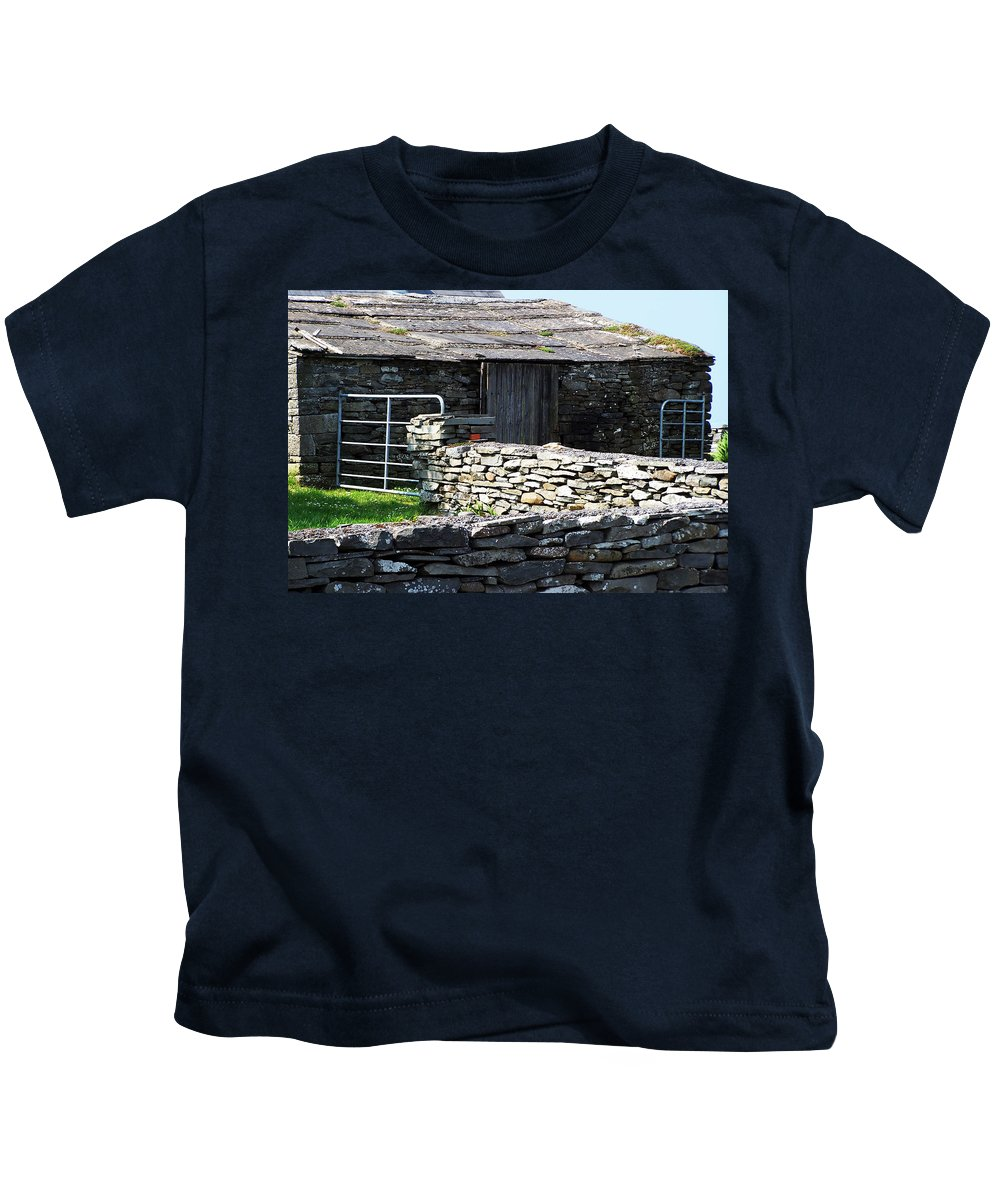 Irish Kids T-Shirt featuring the photograph Stone Barn Doolin Ireland by Teresa Mucha