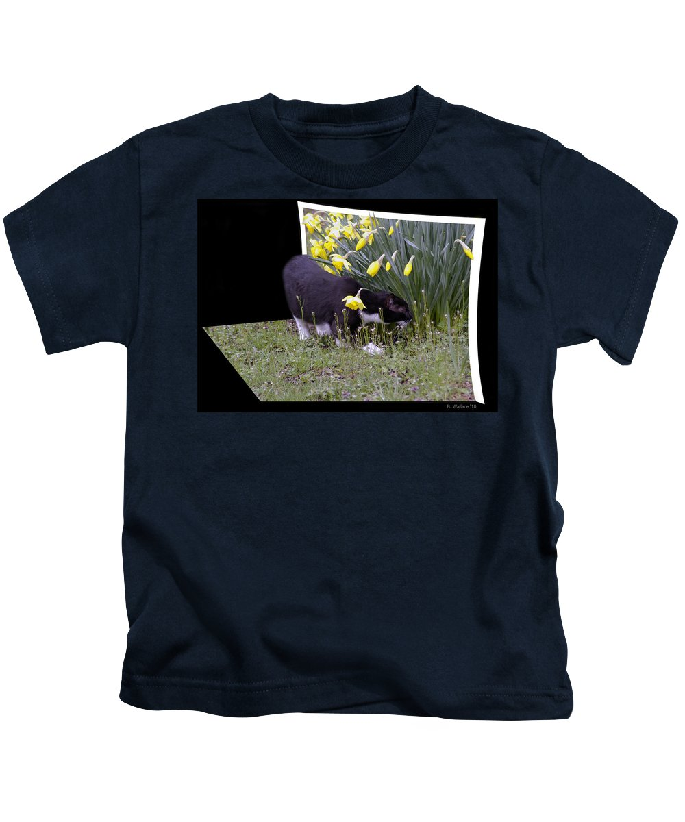 2d Kids T-Shirt featuring the photograph Stop And Feel The Flowers by Brian Wallace