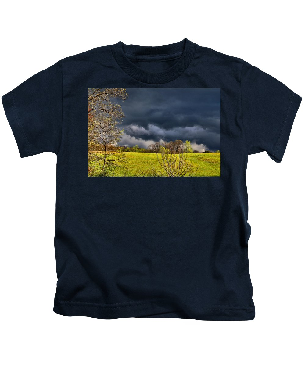 Storm Clouds Kids T-Shirt featuring the photograph Storm Clouds 2 by Kathryn Meyer