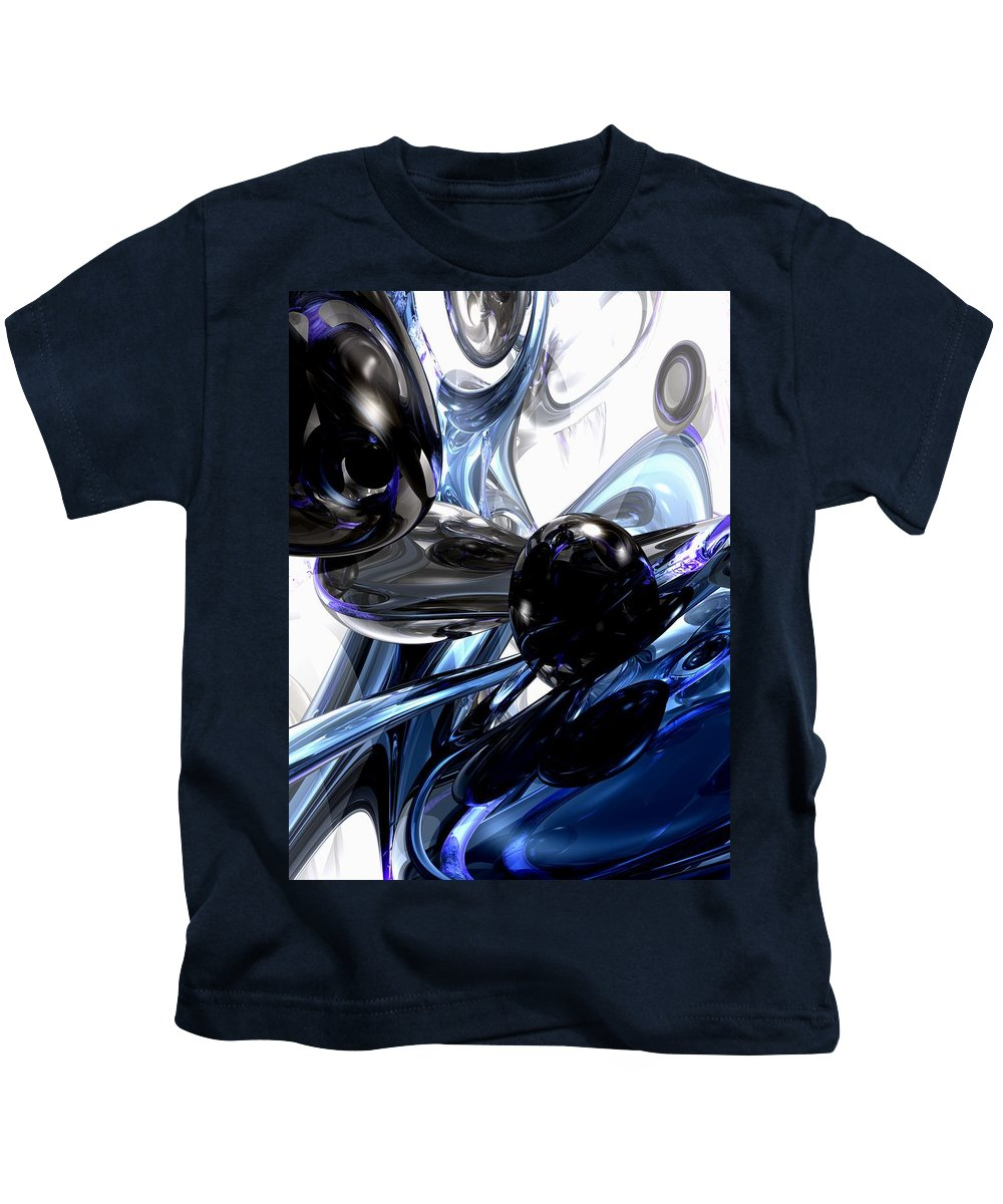 3d Kids T-Shirt featuring the digital art Storm Shadow Abstract by Alexander Butler