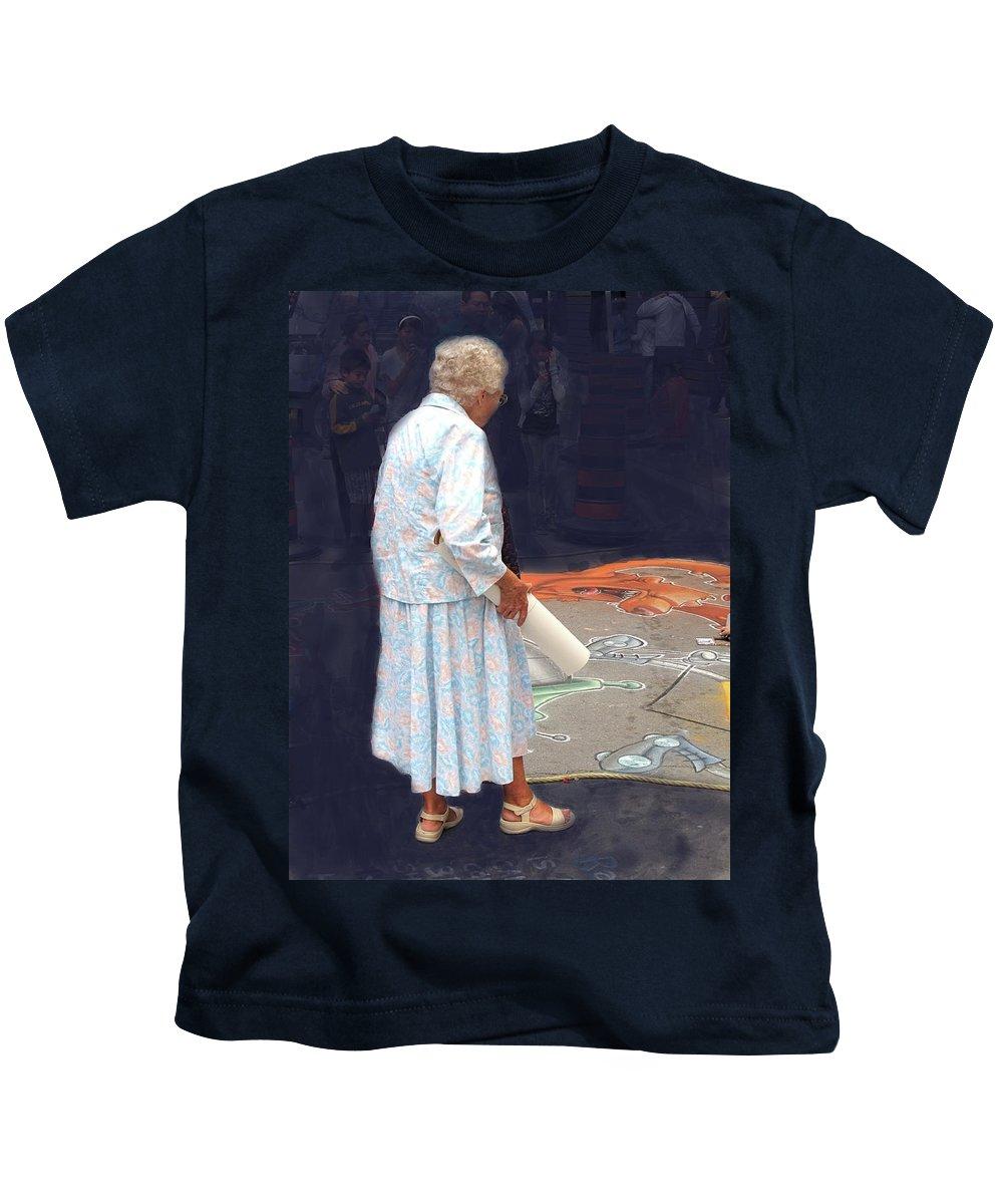 Old Kids T-Shirt featuring the photograph Street Art by Ian MacDonald