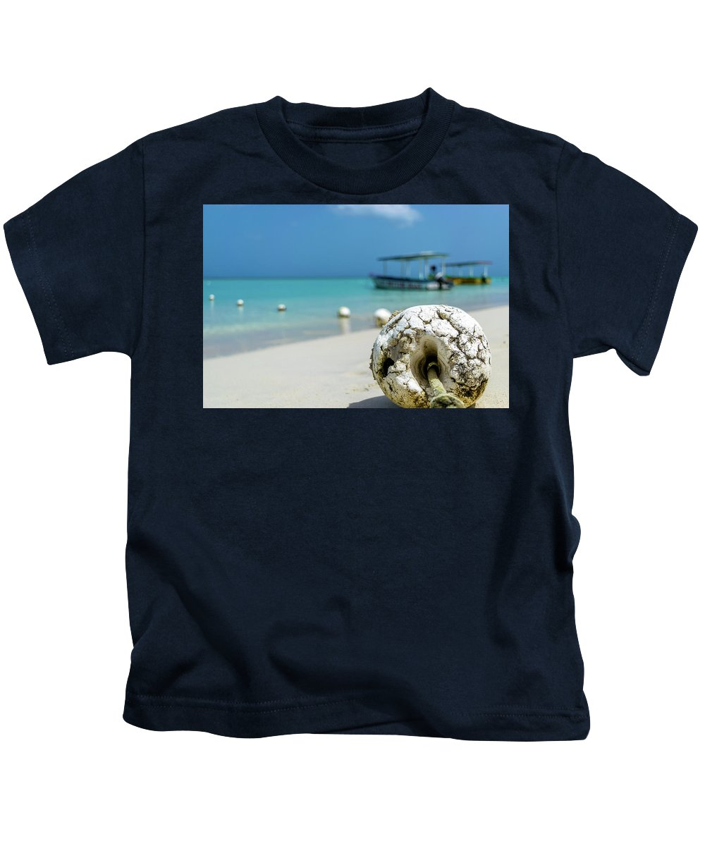 Vacation Destination Kids T-Shirt featuring the photograph Boats And Buoys by Debbie Ann Powell