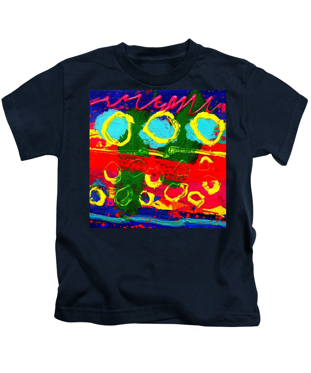 Acrylic Kids T-Shirt featuring the painting Sub Aqua II - Triptych by John Nolan