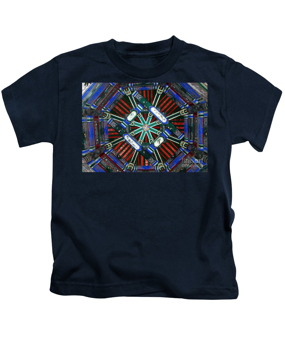 China Kids T-Shirt featuring the photograph Summer Palace Patterns by Carol Groenen